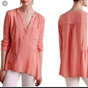Anthropology Maeve Coral Blouse